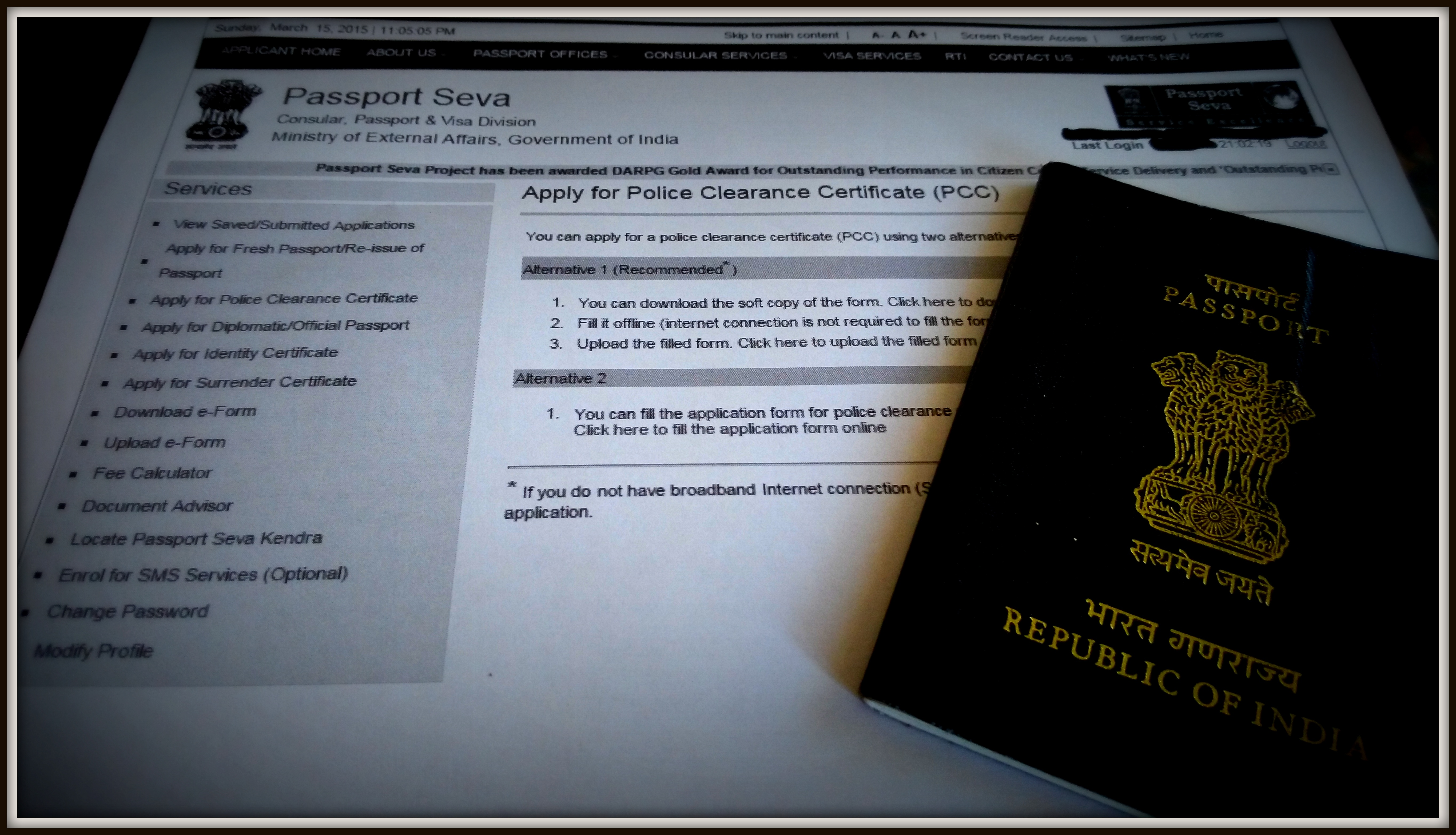 Passport Seva Services For Police Clearance Certificate What A